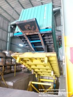 Bàn nâng container đổ liệu