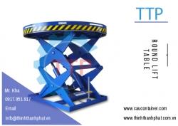Bàn nâng thủy lực tròn - Round lift table